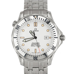 Men's Omega Seamaster Professional White 41mm Stainless Steel Date Watch 2542.20
