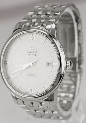 Mint OMEGA De Ville Prestige Automatic 39.5mm Silver Watch 424.10.40.20.02.003