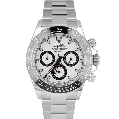 BRAND NEW Rolex Daytona Cosmograph 116500 LN Ceramic White 40mm Stainless Watch