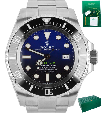 2018 Rolex Sea-Dweller Deepsea James Cameron Blue Black 44mm Dive 126660 Watch