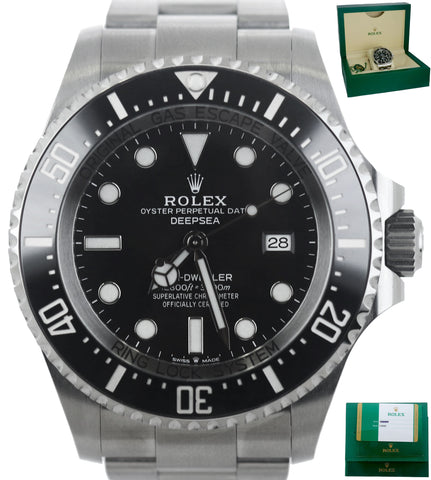 OCT 2019 Rolex Sea-Dweller Deepsea 126660 Stainless 44mm 44 Black Ceramic Dive