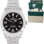 2017 Rolex Explorer I Black 3-6-9 FULL LUME 39mm 214270 Stainless Steel Watch BP
