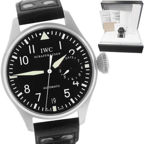 NEW Men's IWC Big Pilot Black 7-Day 46mm 5010 5010-01 IW501001 Stainless Watch