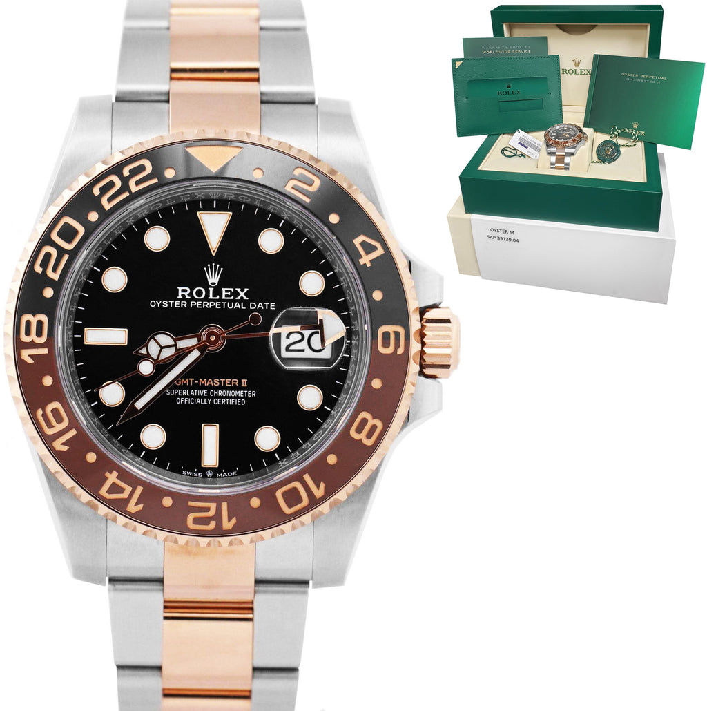BRAND NEW 2021 Rolex GMT-Master II Root Beer Steel Rose Gold 126711 CHNR Watch