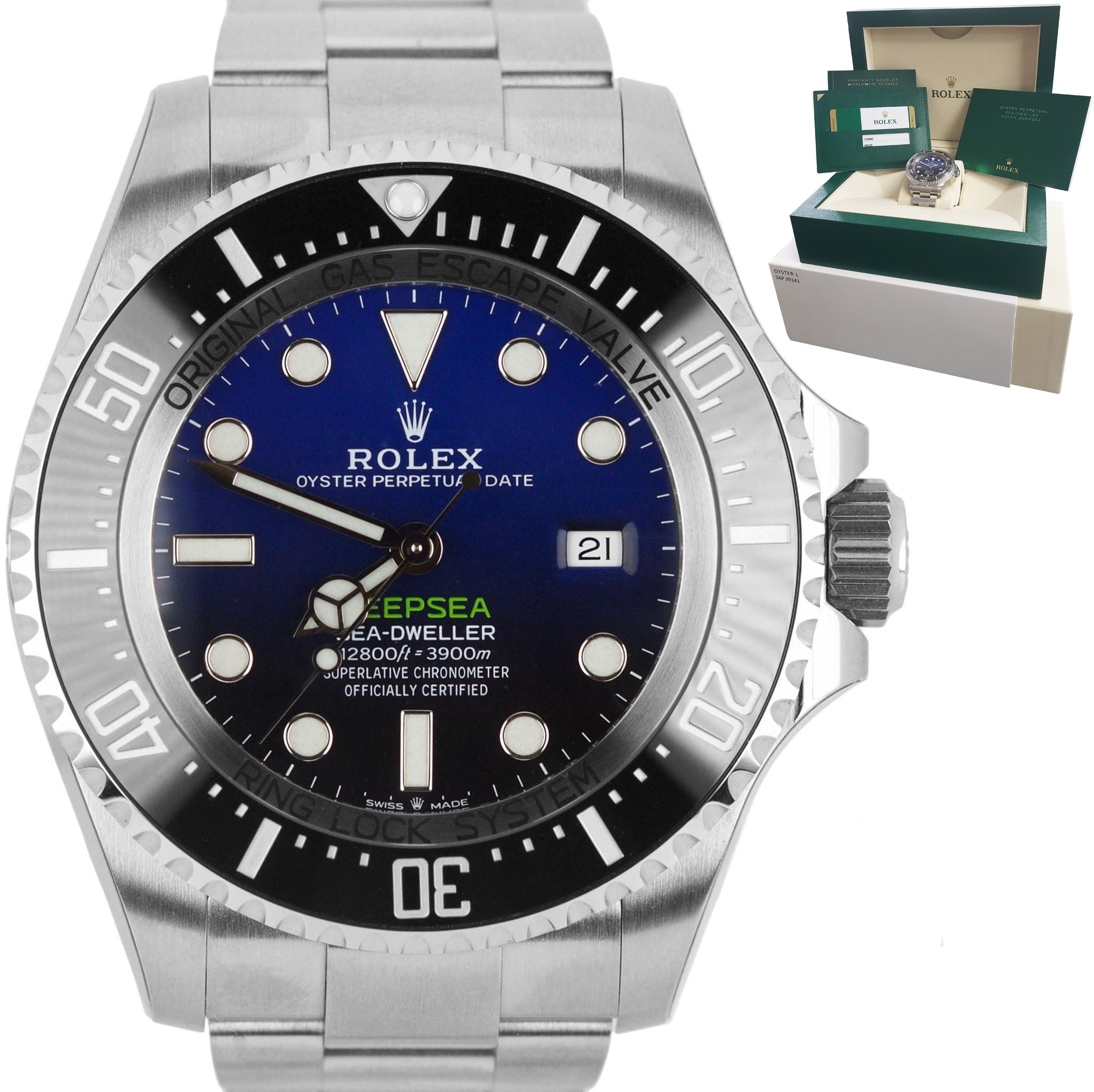 NEW 2019 Rolex Sea-Dweller Deepsea James Cameron Steel Blue 44mm Dive 126660