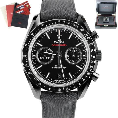 NEW Omega Speedmaster Moonwatch 311.92.44.51.01.003 Black Dark Side Of The Moon