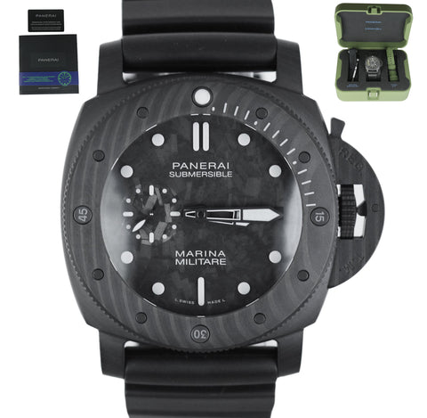 NEW 2020 Panerai Marina Militare Carbotech PAM00979 Black 47mm Mens Rubber Watch