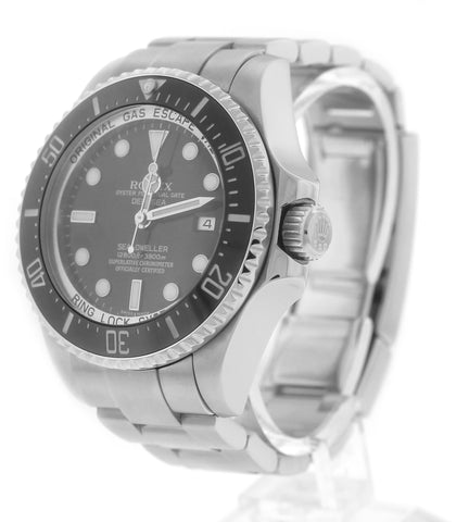 MINT Men's Rolex Sea-Dweller Deepsea Stainless 44mm Black Dive Watch 116660
