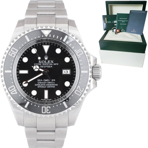 2013 UNPOLISHED Rolex Sea-Dweller Deepsea Stainless 44mm Black Dive Watch 116660