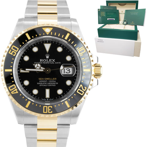 BRAND NEW 2020 Rolex Sea-Dweller 43mm Two-Tone Yellow Gold Black Watch 126603