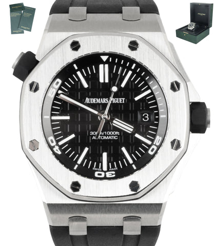 MINT 2020 Audemars Piguet AP Royal Oak Offshore Diver Black 15710 ST Steel Watch