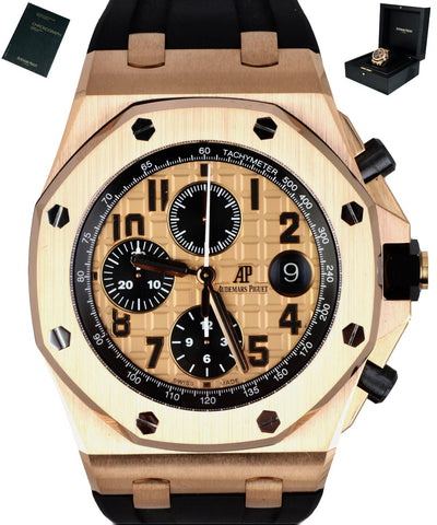 MINT Audemars Piguet AP Royal Oak Offshore Brick 42mm 18K Rose Gold 26470