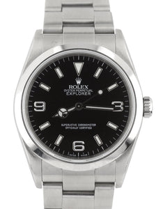 MINT Rolex Explorer I Black 36mm 114270 Steel Black Arabic Dial Lume Watch