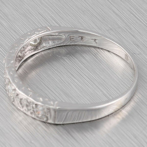 Modern 14k Solid White Gold 7 Stone 0.24ctw Diamond Band Ring