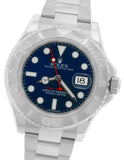 2014 Rolex Yacht-Master Rhodium 116622 Stainless Platinum Blue 40mm Swiss Watch