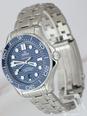 2019 MINT Omega Seamaster Diver 300M 42mm Blue Wave Watch 210.30.42.20.03.001