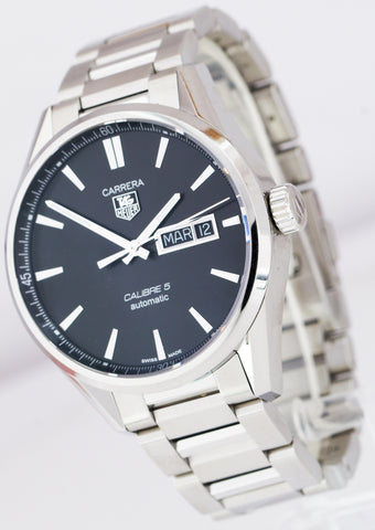 TAG Heuer Carrera Day-Date Calibre 5 Automatic 39mm Watch WAR211 WAR211A.BA0782