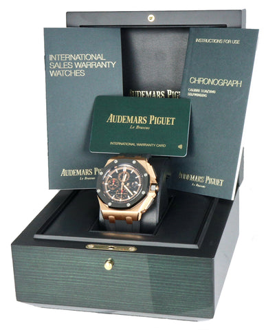 NEW DEC 2020 Audemars Piguet Royal Oak Offshore Chrono 2640118K Rose Gold Watch