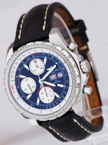 Breitling Bentley GT Day-Date Chronograph Black Stainless A13362 44.8mm Watch