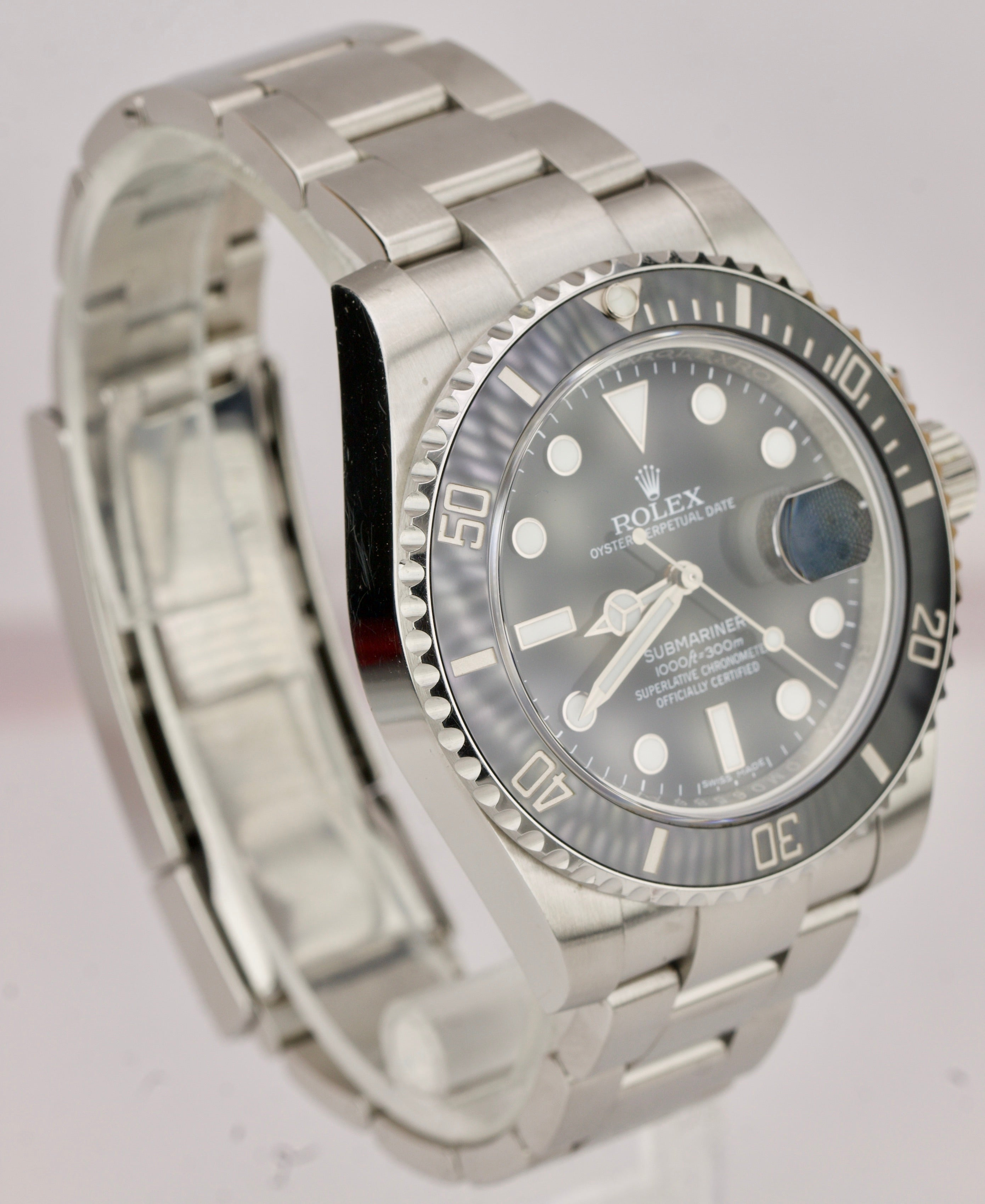 2018 Rolex Submariner Date 40mm Stainless Steel Black Ceramic Dive Watch 116610