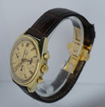 Vintage RARE Heuer Carrera 73655 Gold Plated 38mm Manual Valjoux 7736 Watch