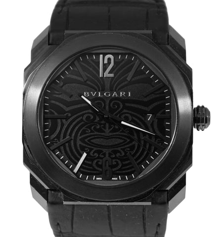 BVLGARI Bulgari Octo Solotempo Maori Tattoo 41mm Black BGO41S Automatic Watch