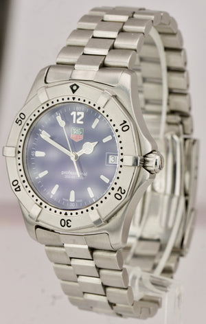 TAG Heuer Professional 200M Blue Stainless Steel 38mm Quartz Date Watch WK1113-0