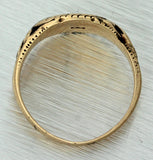 1880s Antique Victorian 14k Yellow Gold Monogrammed Engraved Signet Ring J8