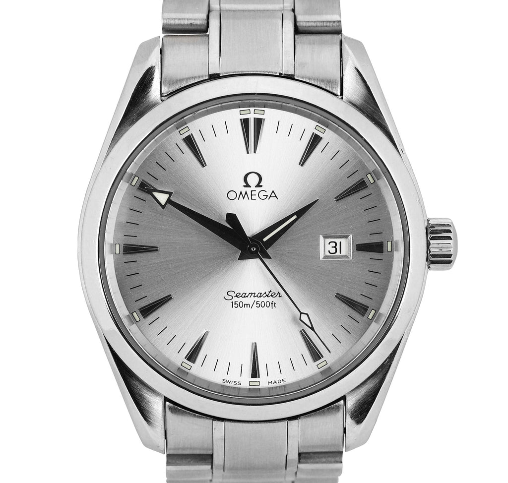 Omega Seamaster Aqua Terra Quartz Stainless Steel 39.2mm Silver Watch 2517.30.00
