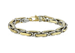 "Men's Braccio Heavy 14K Two-Tone Gold 8mm Fancy Link Chain 8.50"" Bracelet 74.9gr"