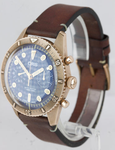 Oris Carl Brashear Limited Edition 43mm Chrono Bronze Watch 01 771 7744 3185