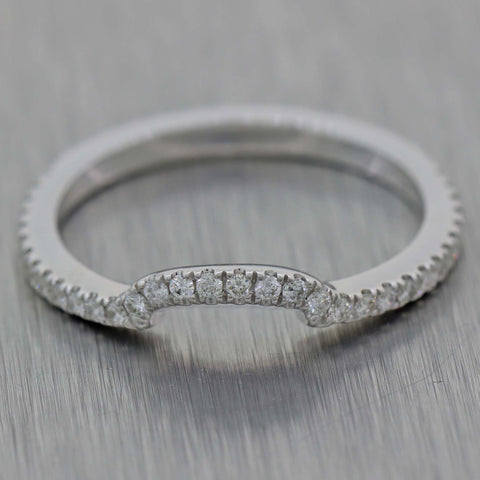Neil Lane 14k White Gold .40ctw Diamond 3mm Stackable Bridal Band Ring