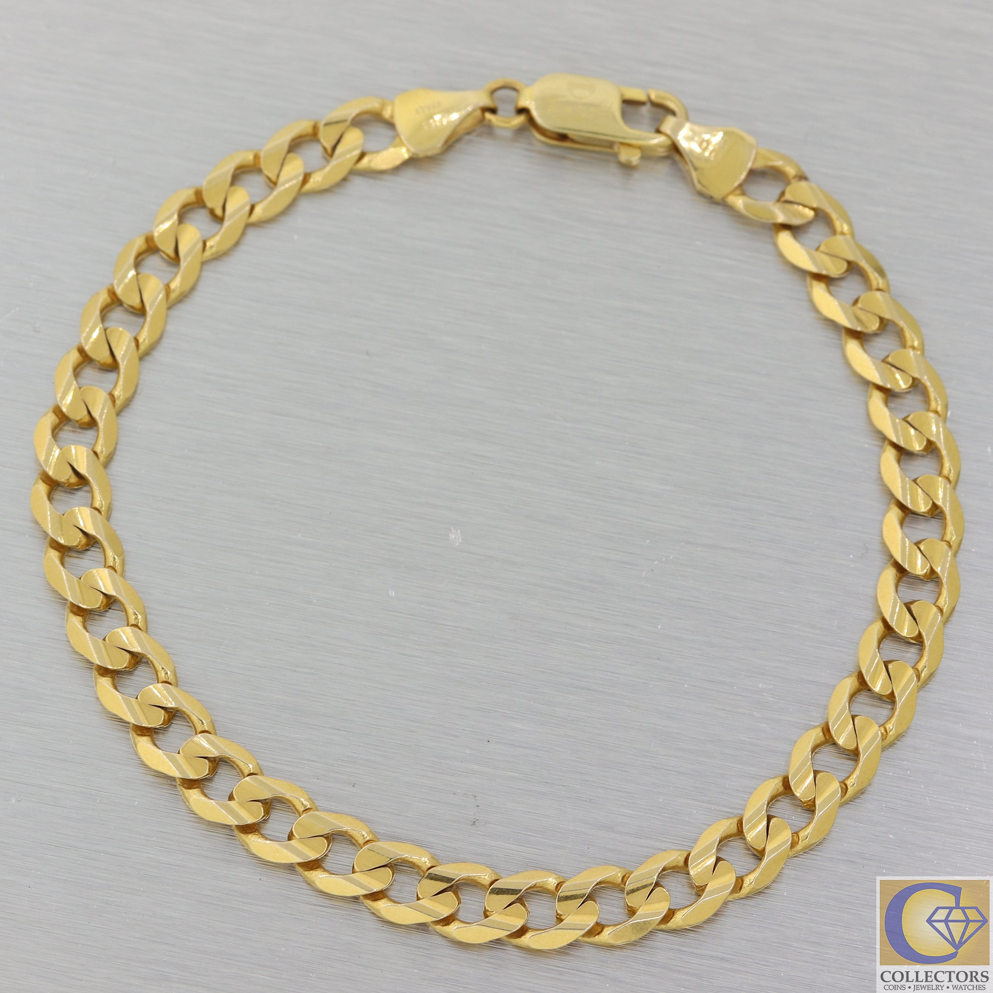 "Mens 14k Yellow Gold 6mm Wide Miami Cuban Link Bracelet 11.4g A8 8.0"" inches"
