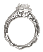 Verragio 18K White Gold 1.24CT I SI1 Round Brilliant Diamond Engagement Ring GIA