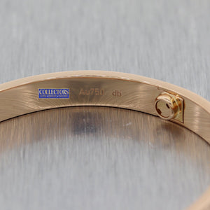 2016 Cartier 18k Rose Gold New Style Screw Love Bangle Bracelet BP Sz17