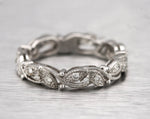 Chic Ladies Filigree 14K White Gold 0.35ctw Diamond Eternity Band Ring