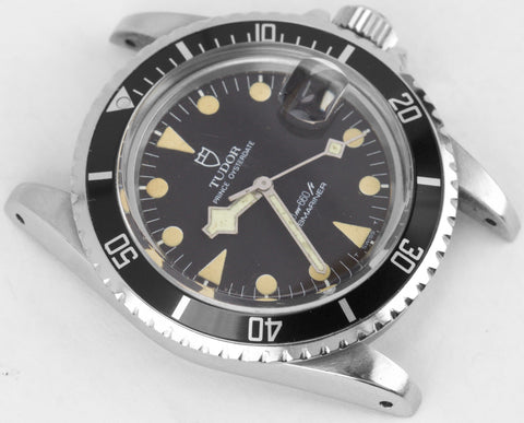 Vintage 1984 Tudor Submariner 76100 LOLLIPOP 40mm Patina 12x Stainless Watch