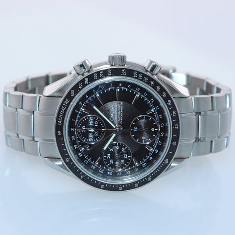 Omega Speedmaster Triple Calendar Black Chronograph 3220.50 40mm Steel Watch