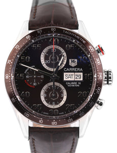 Tag Heuer Carrera Calibre 16 Chocolate Automatic Chronograph CV2A12-0 43mm Watch