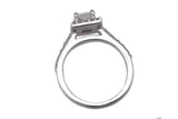 14K White Gold 0.75 CT G-H I1 Square Modified Brilliant Diamond Engagement Ring