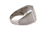 Ladies Vintage Estate 14K White Gold 0.83ctw Diamond Textured Cocktail Ring