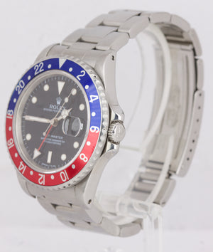 1991 Rolex GMT-Master 40mm Pepsi Blue Red 16700 Stainless Steel Watch 16710