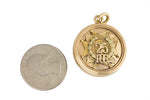14K Yellow Gold 25 Years Police Officers Guild POG Diamond Ruby Locket Pendant