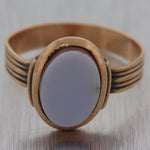 1860's Antique Victorian 10k Yellow Gold Agate Ring