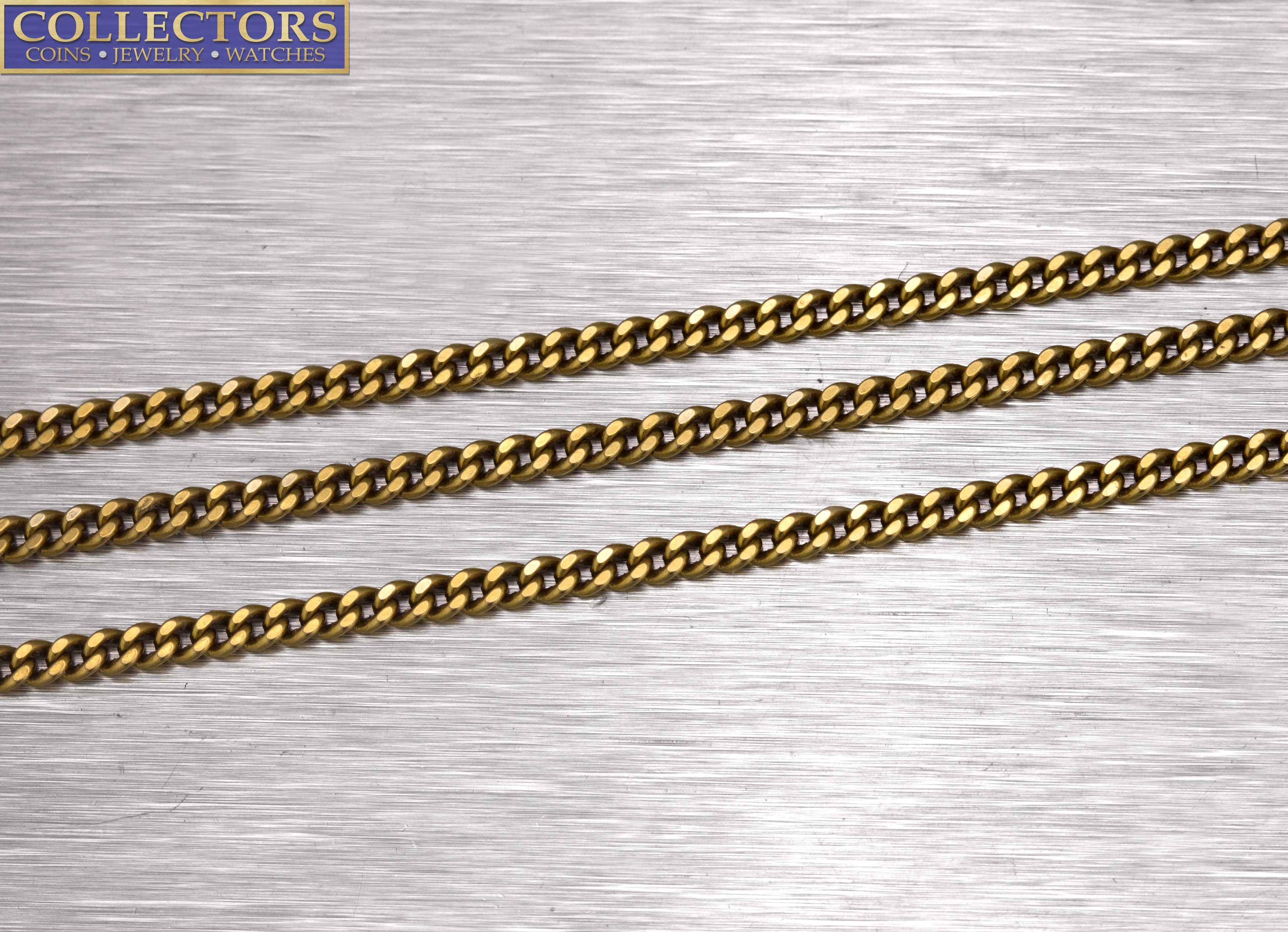 "Men's Modern 25.00"" 18K Yellow Gold 2mm Curb Cuban Link Chain Necklace 14.4gr"