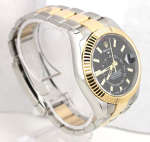 2019 Rolex Sky-Dweller 326933 Black 18K Two Tone Gold Stainless 42mm Watch Box