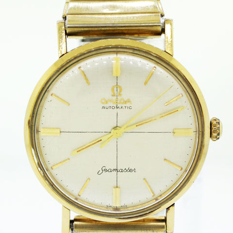 1960s Omega Seamaster 14k Yellow Gold-Filled 34mm Automatic Watch