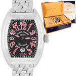 Franck Muller King Taormina Stainless Steel Black Pink Automatic Watch 8005 SC