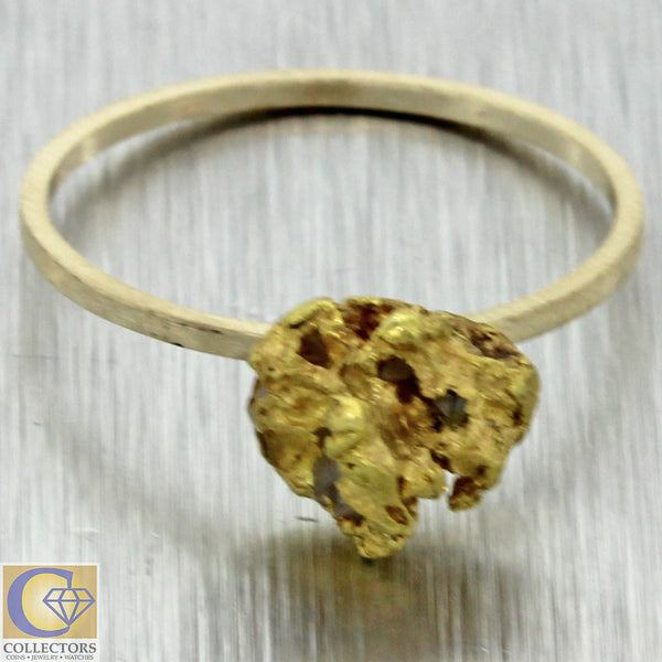 1880s Antique Victorian Estate Solid 22k Yellow Gold Nugget Cocktail Ring 2.3g