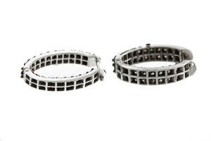 Roberto Coin 18K 750 White Gold 3.22ctw Diamond Inside Out Huggie Hoop Earrings